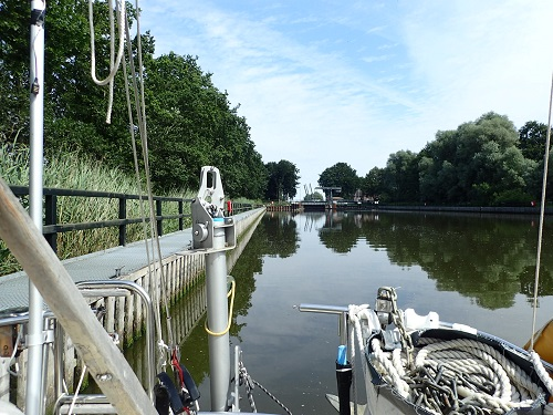 Got through the Kiel Canal and the last sluice